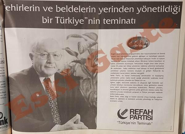 1994 seçimleri öncesi Refah Partisi reklamı