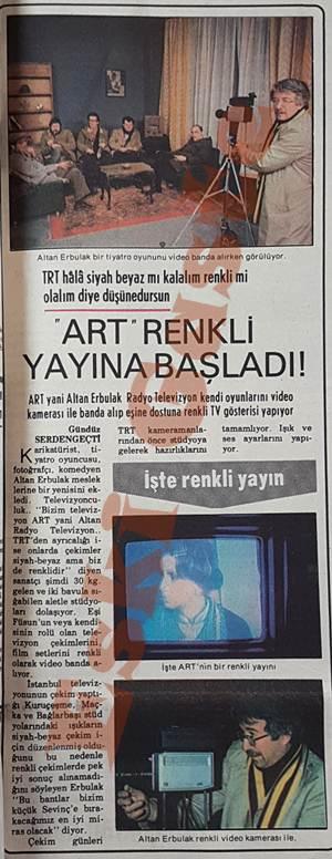 Altan Erbulak Radyo Televizyon (ART) renkli yayına başladı!