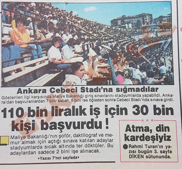 İşe girmek isteyenler Cebeci Stadı'na sığmadı