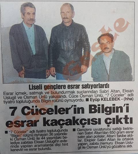 7 Cüceler'in Bilgin'i esrar kaçakçısı çıktı