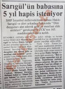 Mustafa Sarıgül'ün babası Hakkı Sarıgül