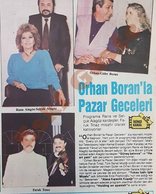 Orhan Boran'la Pazar Geceleri