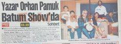 Yazar Orhan Pamuk Rüstem Batum Show'da