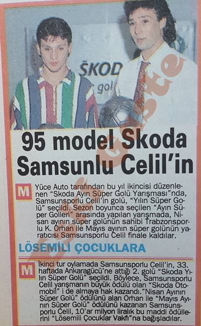 1995 model Skoda Samsunsporlu Celil'in