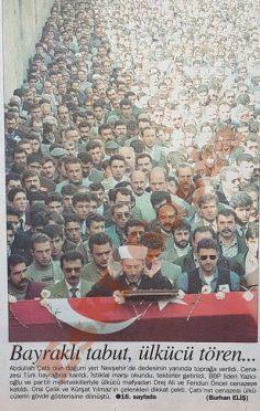 Abdullah Çatlı'nın cenaze töreni