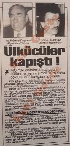 Alparslan Türkeş – Muhsin Yazıcıoğlu kavgası
