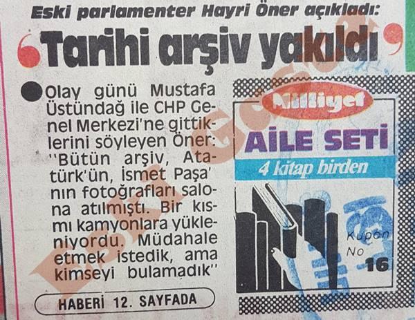 CHP'nin tarihi arşivi Seka'da yok edildi