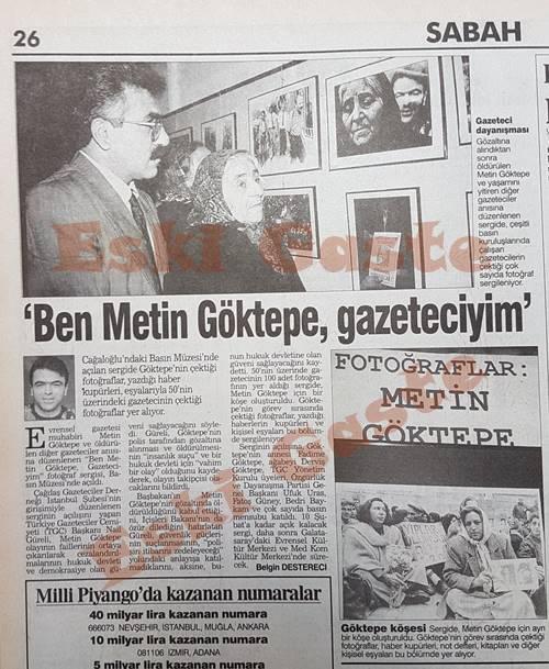 Ben Metin Göktepe, gazeteciyim