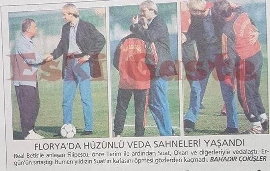 Filipescu Galatasaray'a veda etti