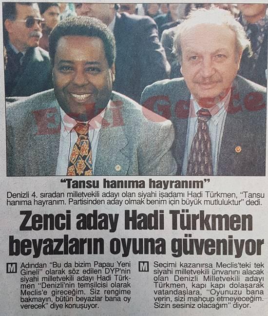 Zenci aday Hadi Türkmen beyazların oyuna güveniyor