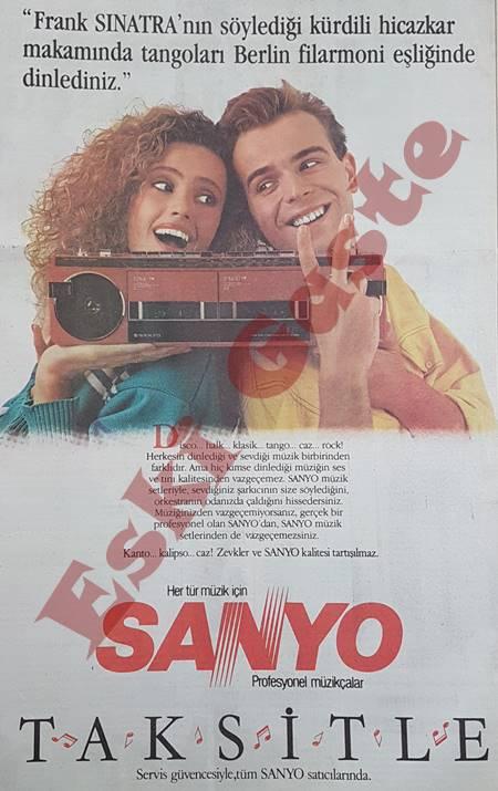 Sanyo müzikçalar reklamı