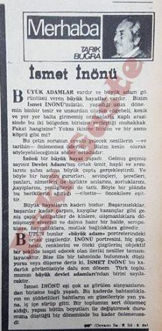 Tarık Buğra'nın İsmet İnönü yazısı