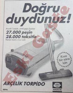 Arçelik Torpido reklamı