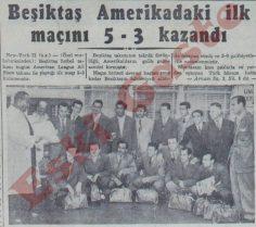 Beşiktaş Amerika'daki ilk maçını 5-3 kazandı