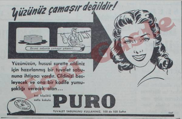 Puro tuvalet sabunu reklamı