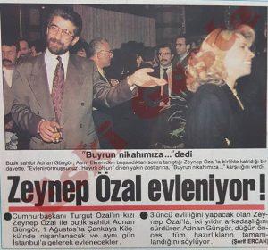 Zeynep Özal Adnan Güngör