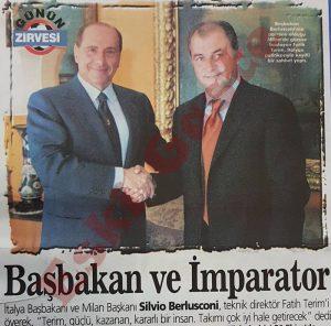 Fatih Terim ve Berlusconi