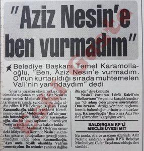 Temel Karamollaoğlu - Aziz Nesin