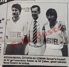 Sarıyer formasıyla Kocaeli'ye iki gol atan Rıdvan Dilmen