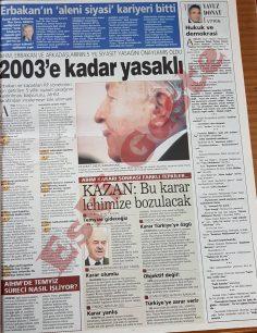 Yavuz Donat Refah Partisi'nin kapatılması kararını övüyor