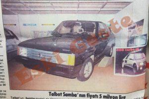 1984 Model Talbot Samba