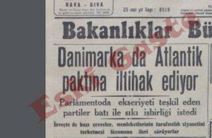 Danimarka NATO'ya katılıyor