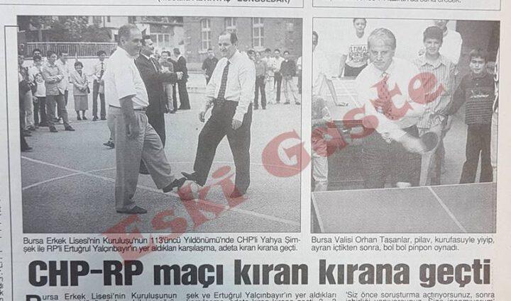 Bursa Erkek Lisesi kuruluş yıl dönümünde kıran kırana maç