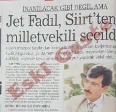 Jet Fadıl Siirt'ten milletvekili seçildi