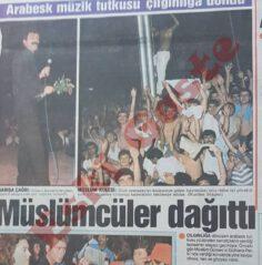 Müslüm Gürses'in Gülhane Parkı konserinde olaylar çıktı