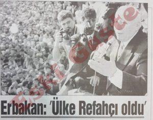 Necmettin Erbakan Zonguldak Mitingi