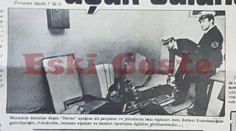 1975 THY Uçak Kazası Sonrası bulunan parçalar