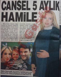 Cansel Özzengin 5 aylık hamile