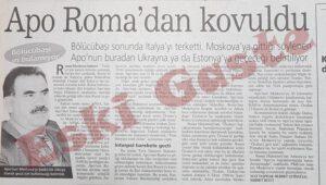 Abdullah Öcalan İtalya 'dan Kovuldu