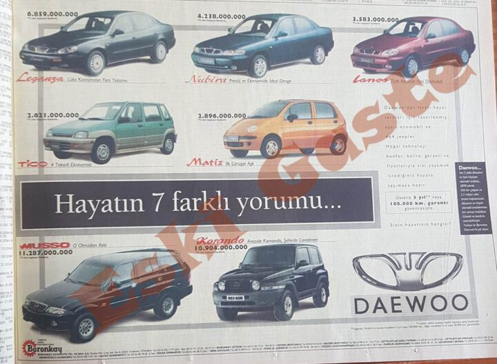 1998 Model Daewoo Reklamı