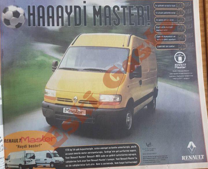1998 Model Renault Master Reklamı