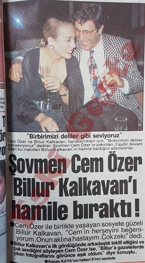 Şovmen Cem Özer Billur Kalkavan'ı hamile bıraktı