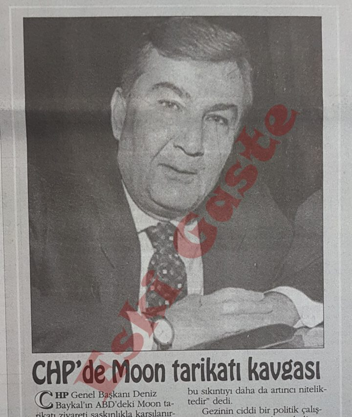 CHP'de Moon Tarikatı Kavgası