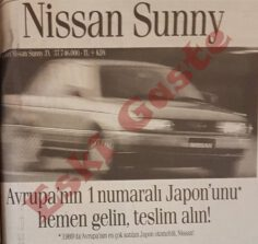 1990 yılından Nissan Sunny Reklamı