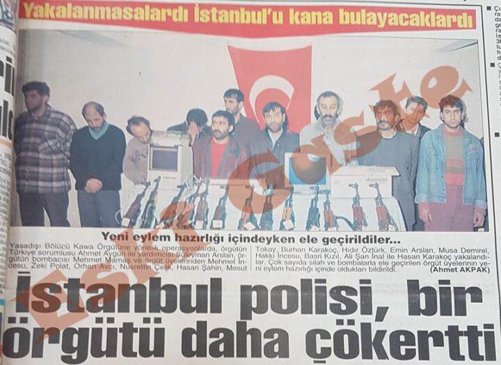 Kawa Örgütüne İstanbul'da Operasyon