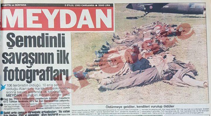 1992 Şemdinli Alan Karakolu Baskını Fotoğrafları