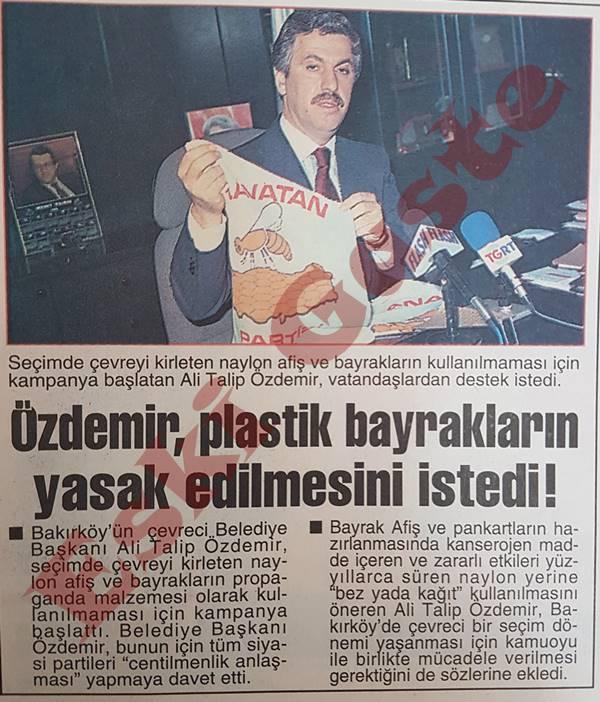 Ali Talip Özdemir: Plastik Bayraklar Yasaklansın