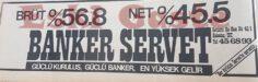 Banker Servet Reklamı