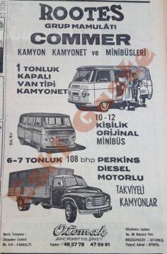 Commer Kamyon ve Minibüs Reklamı – 1964