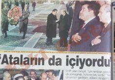"""Türkmenbaşı'dan Bahçeli'ye """"Ataların da içiyordu"""""""