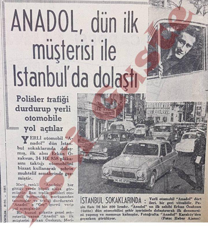 İlk Anadol İstanbul'da Dolaştı