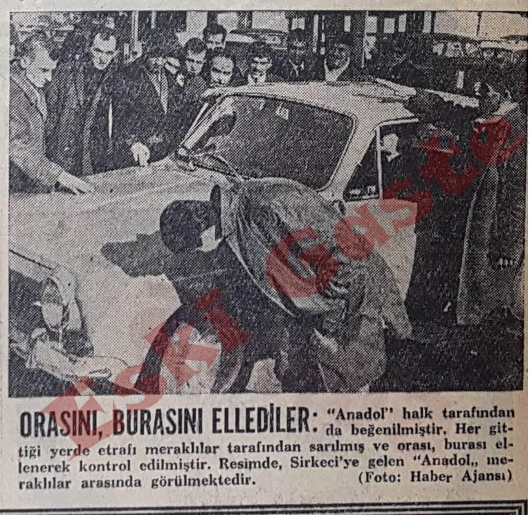 İlk Anadol İstanbul Sokaklarında