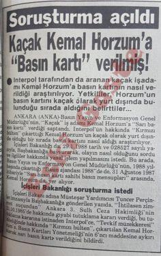 Kaçak Kemal Horzum'a Basın Kartı Verilmiş