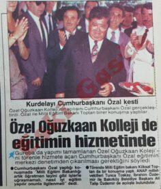 Oğuzkaan Koleji'ni Turgut Özal Açtı