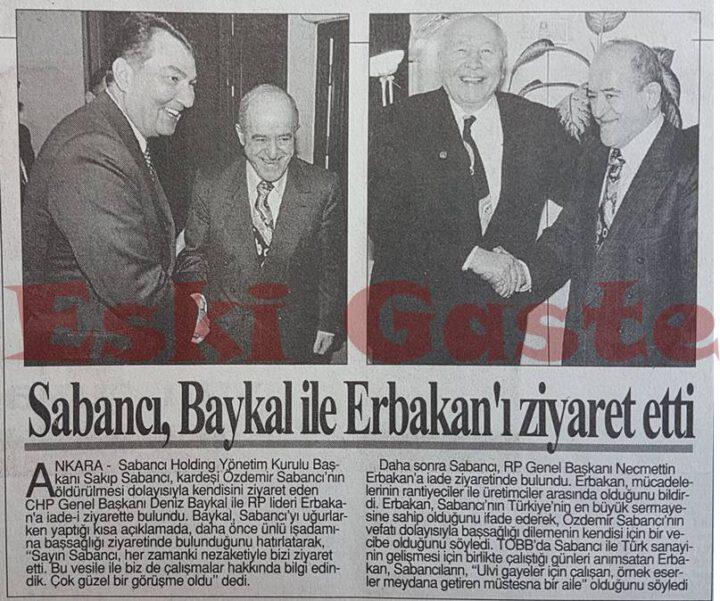 Sakıp Sabancı Baykal ve Erbakan'ı Ziyaret Etti