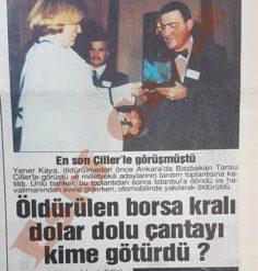 Öldürülen Yener Kaya Dolar Dolu Çantayı Kime Götürdü?